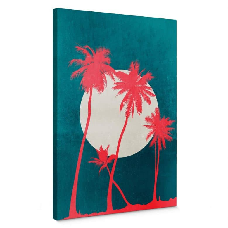 Canvas Print Kubistika - Caribbean Night