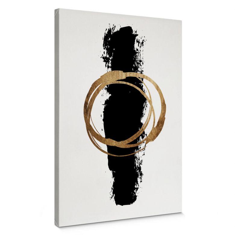 Canvas Print Kubistika - Black & Gold