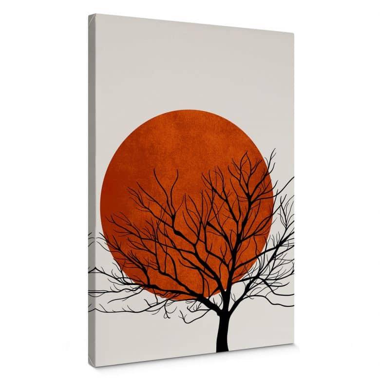 Leinwandbild Kubistika - Warmer Sonnenuntergang