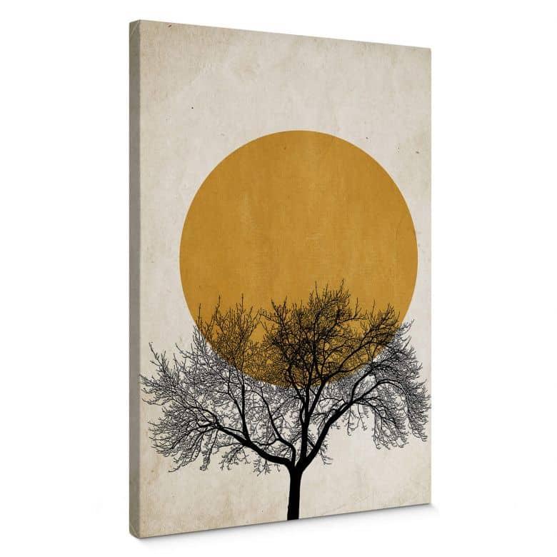 Canvas Kubistika - Wintermorgen