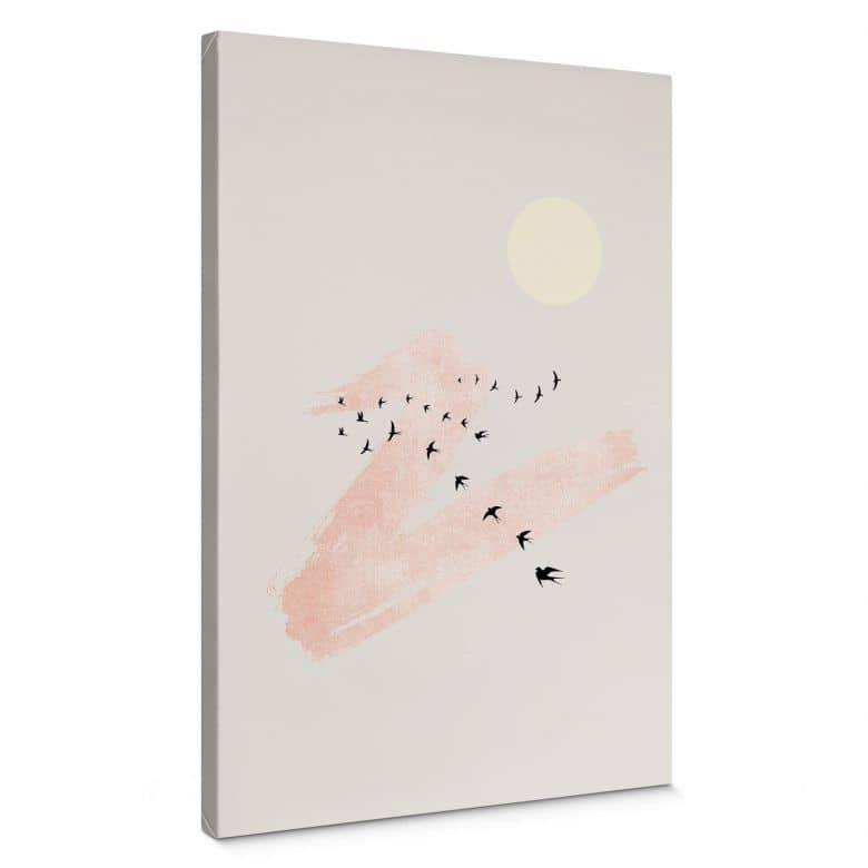 Leinwandbild Kubistika - Wolkenstreifen