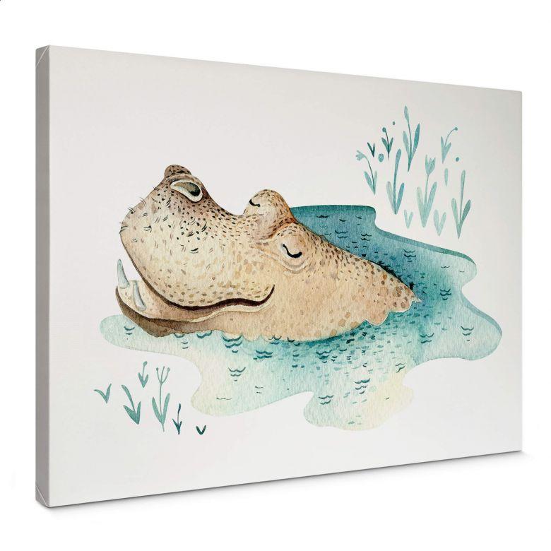 Leinwandbild Kvilis - Hippo