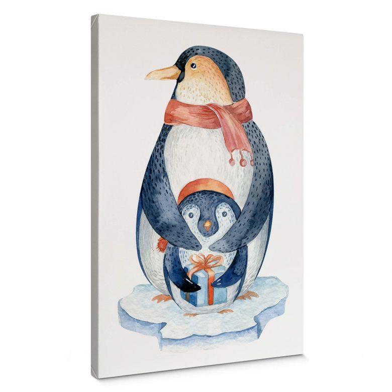 Leinwand Kvilis - Pinguin und das Geschenk