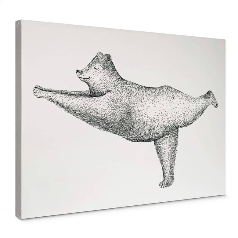 Leinwand Kvilis - Yoga Bär 02