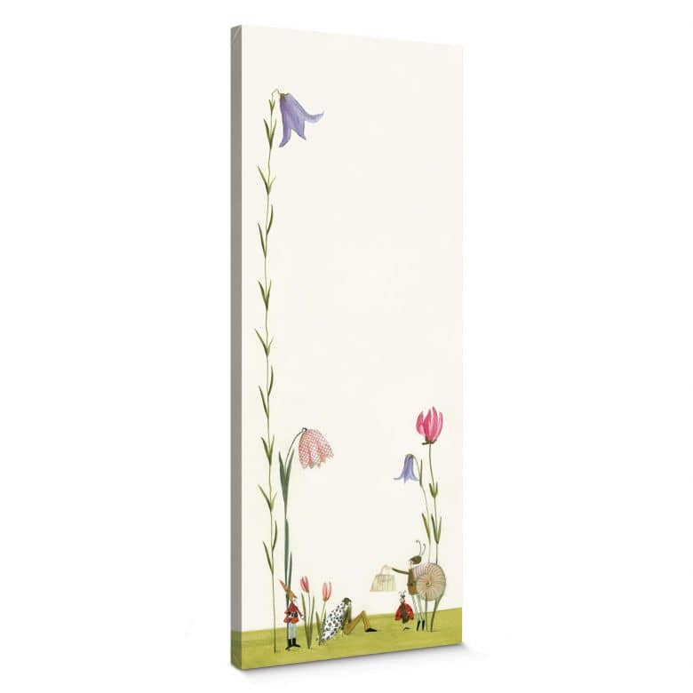 Leinwandbild Leffler - Blütenschnecke