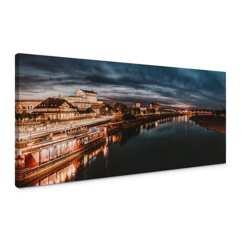Leinwandbild Lichterfahrt in Dresden