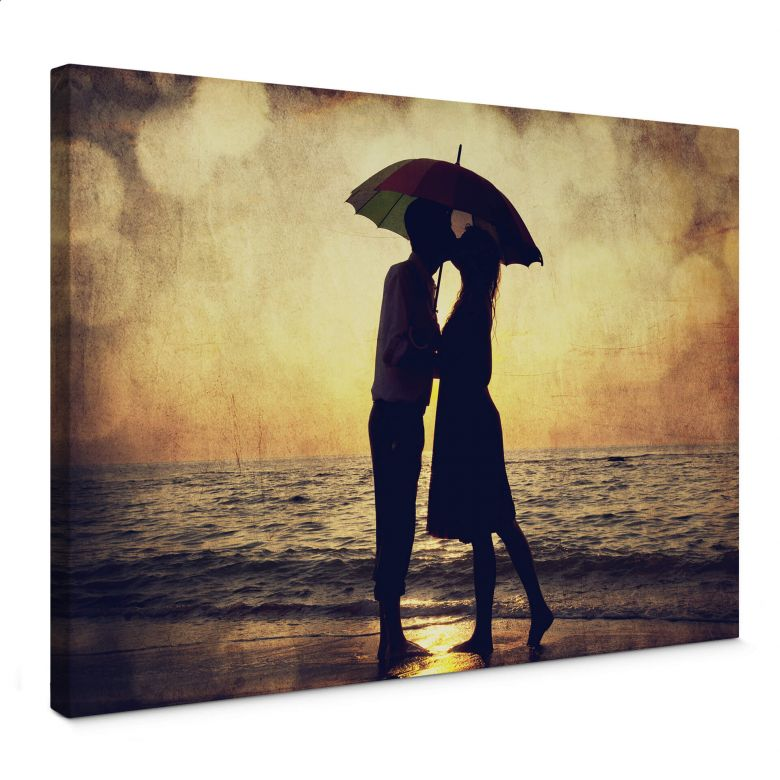 Love in the Sunset Canvas art