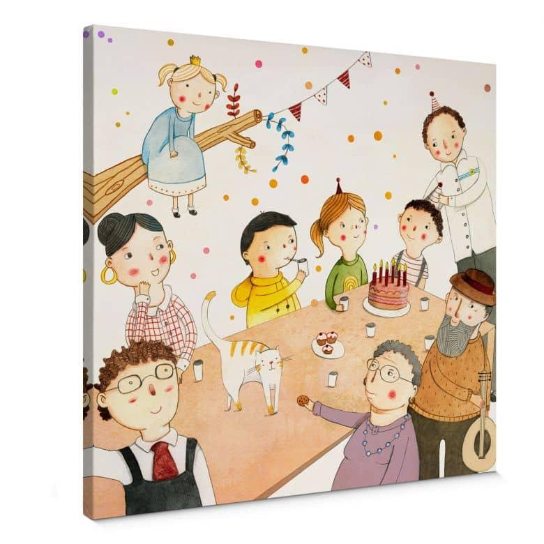Leinwandbild Loske - Geburtstagsfeier