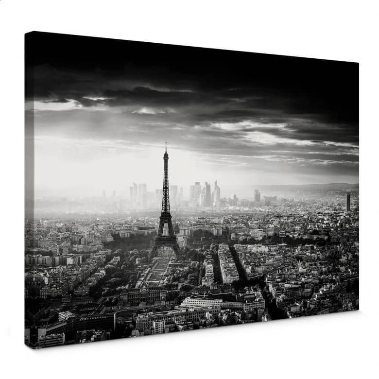 Canvas Parijs in de Mist