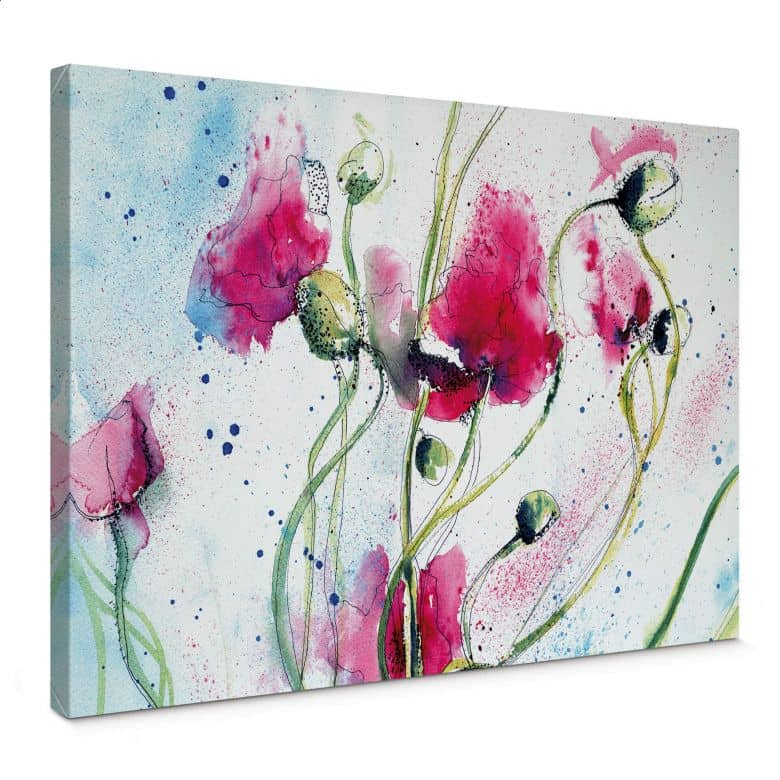 Poppies Watercolour Canvas print