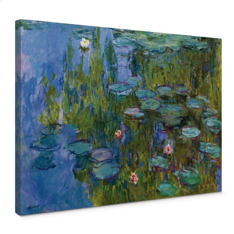 Monet - Water Lillies 1918 Canvas print