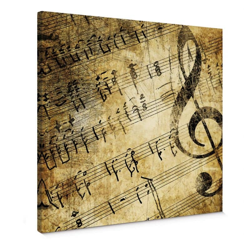 Leinwandbild Musik