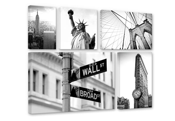 Leinwand New York - Mega XXL Collage (5-teilig) | wall-art.de