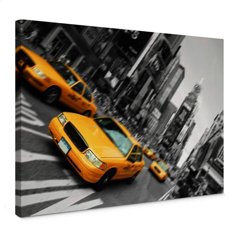 Taxi in New York Canvas print