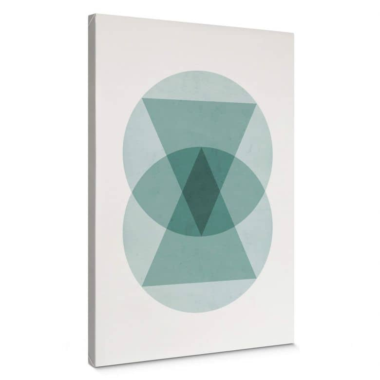 Stampa su tela Nouveauprints - Cerchi e triangoli