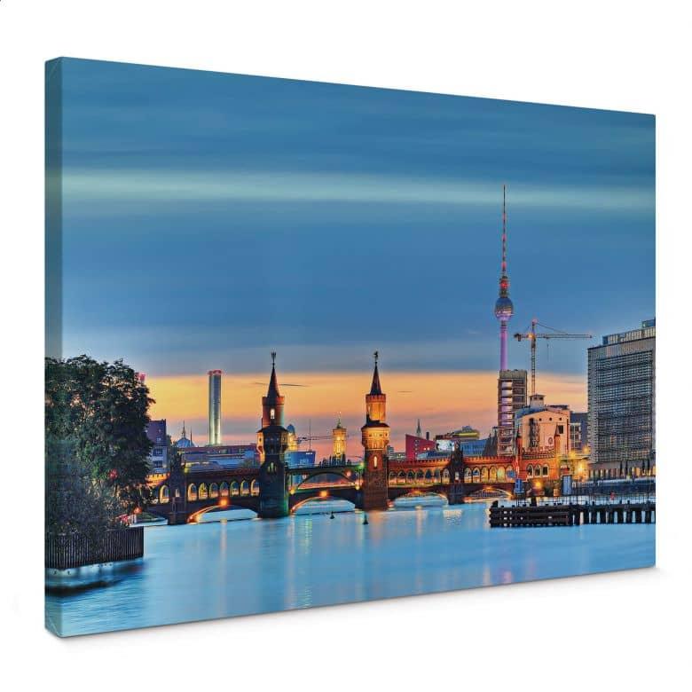 Leinwandbild Oberbaumbrücke Berlin