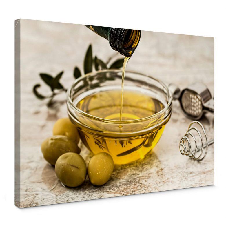 Leinwandbild Olivenöl