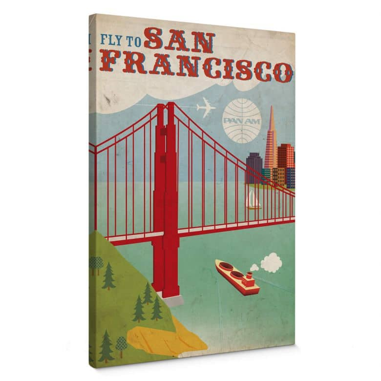 Leinwandbild PAN AM - Fly to San Francisco