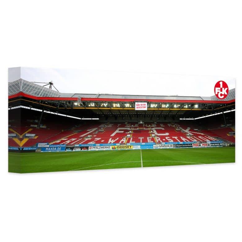 Leinwandbild 1. FC Kaiserslautern Stadion Tribüne - Panorama