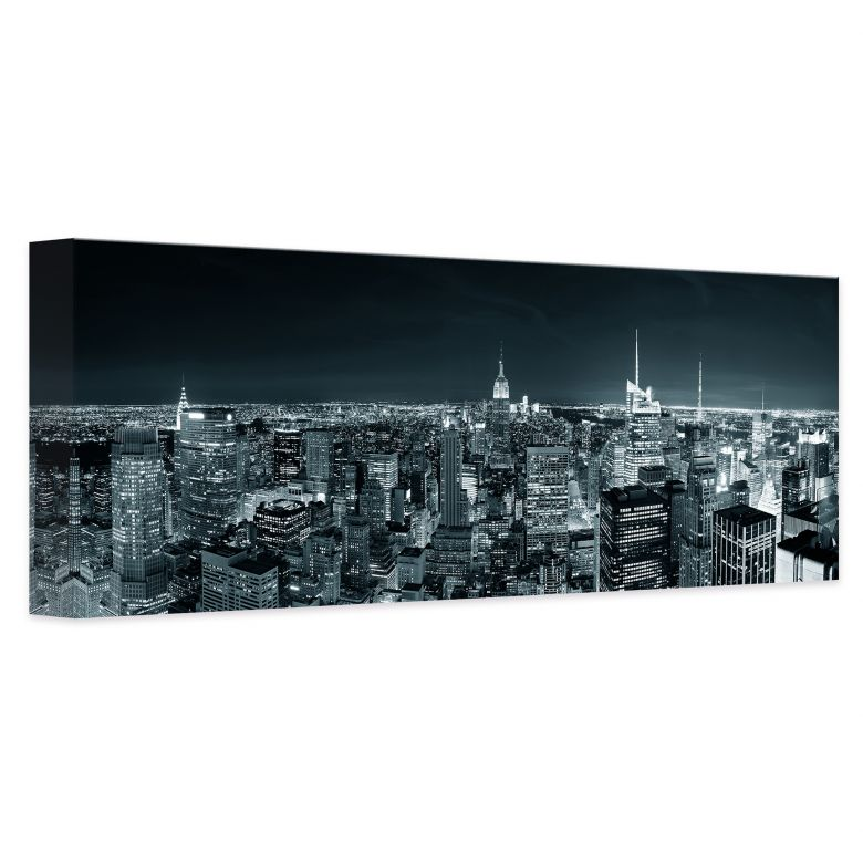 leinwand new york at night 2 stylisches panorama f r ihr zuhause wall. Black Bedroom Furniture Sets. Home Design Ideas