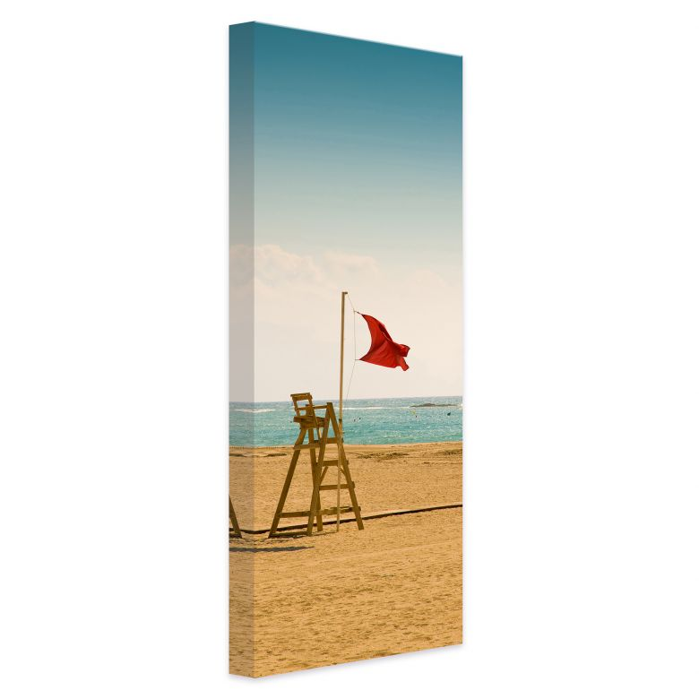 Leinwandbild Rote Fahne - Panorama