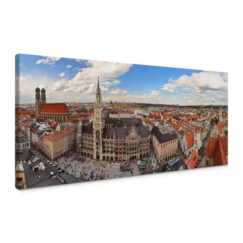 Canvas Munchen Skyline - Panorama