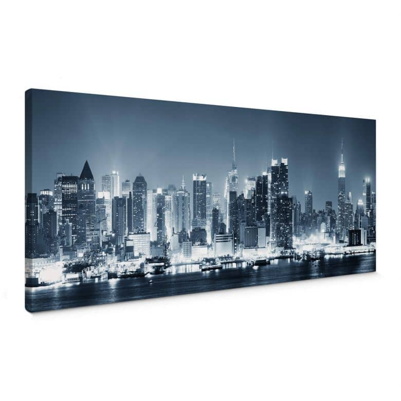 Leinwandbild New York at Night 1 Panorama