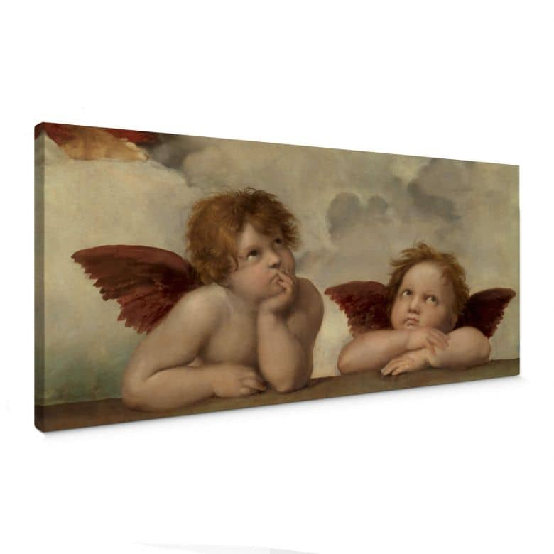 Raphael - Two Angels Canvas print