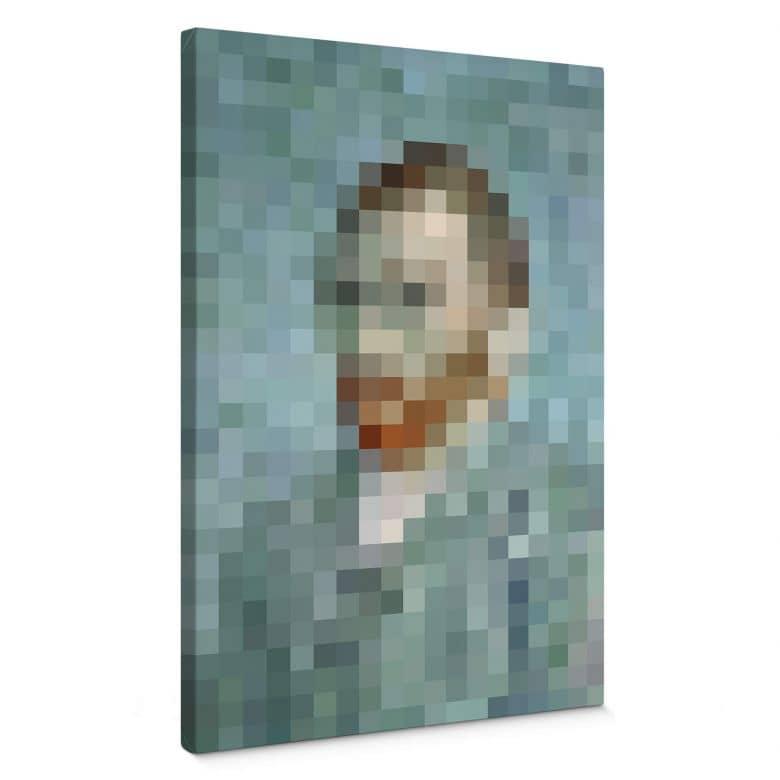 Leinwandbild Pixelart - van Gogh - Selbstbildnis 1889