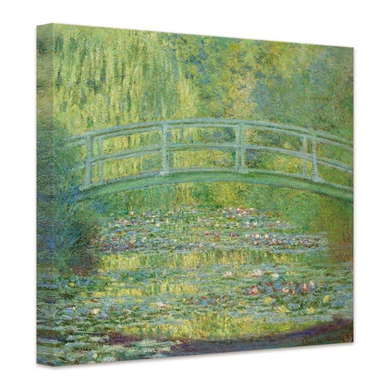 Kunstdruck Claude Monet Seerosenteich und japanische Brücke auf ...