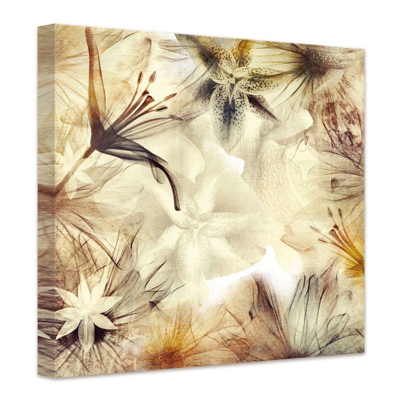 Leinwandbild Foggy Flowers
