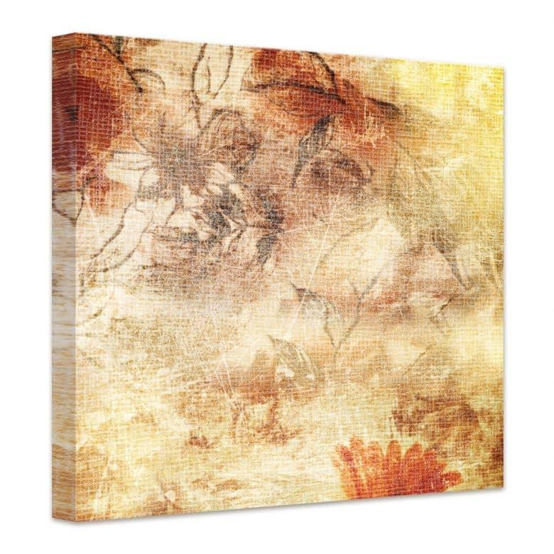 tableau sur toile ivresse florale wall. Black Bedroom Furniture Sets. Home Design Ideas