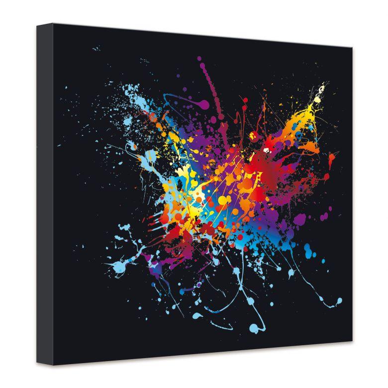 Leinwand farbenexplosion stylische deko f r die wand - Stylische wandfarben ...