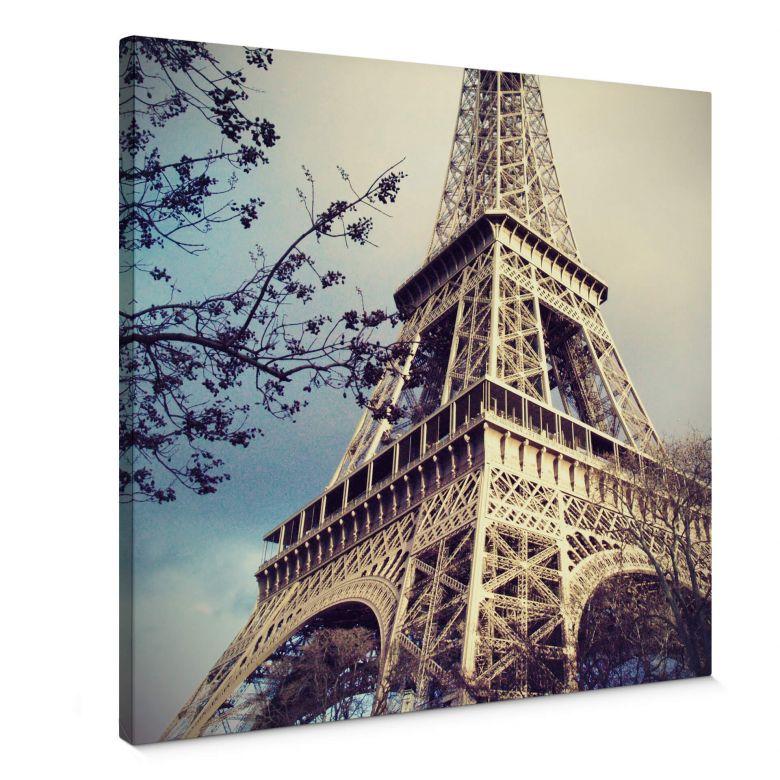 Leinwandbild Paris Eiffelturm - Quadratisch