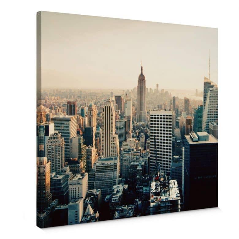 Leinwandbild Skyline von  New York City - Quadratiisch