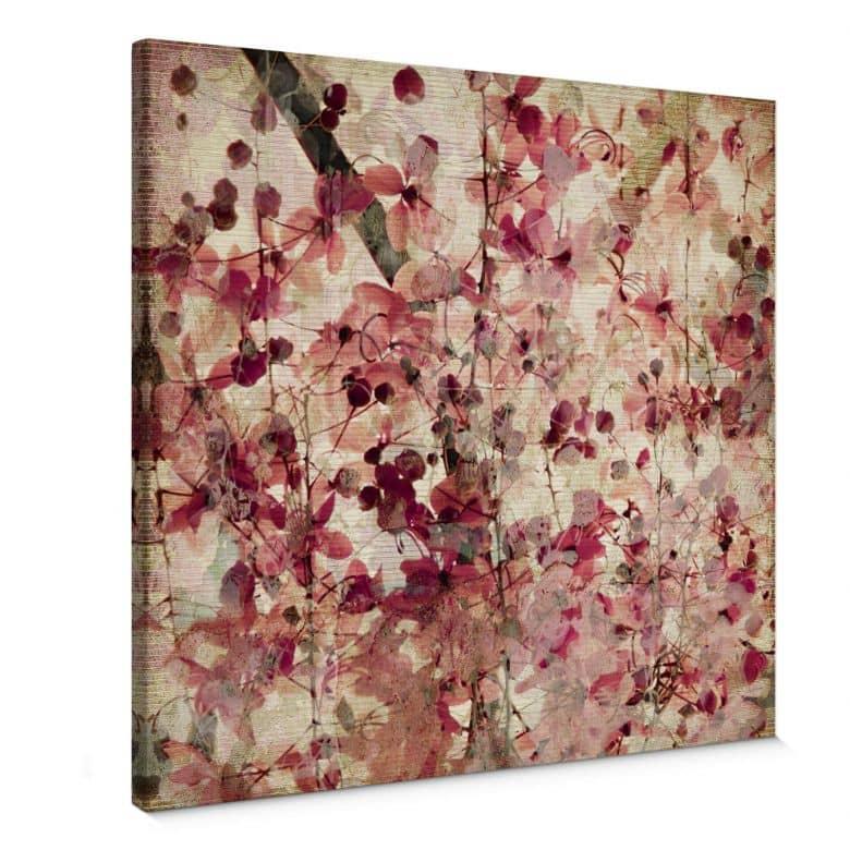 Tableau sur toile - Motif Floral Vintage