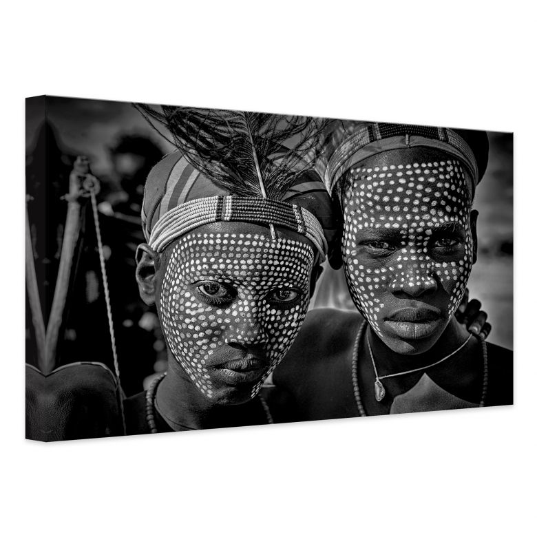 Leinwandbild Kuesta - Porträt des Abore-Stammes