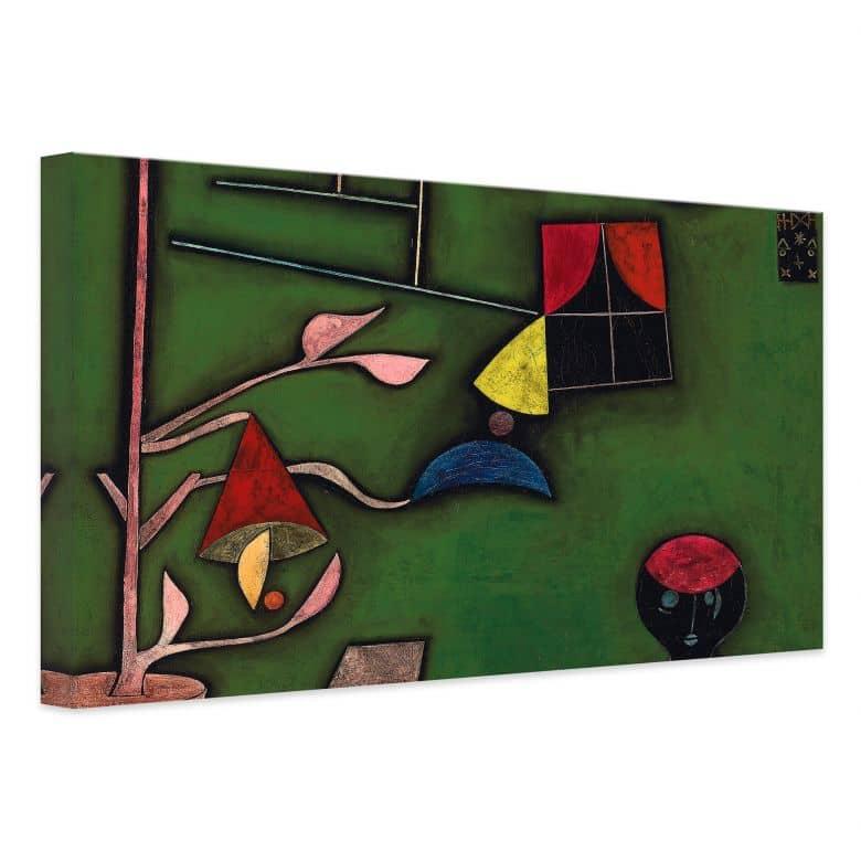 Leinwandbild Klee - Stillleben mit Pflanze und Fenster