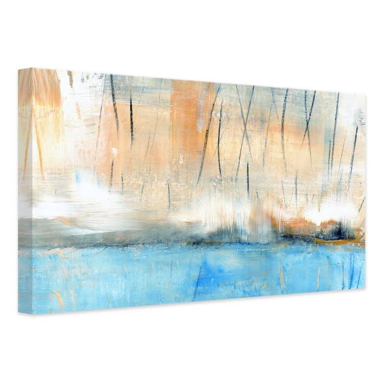 Leinwandbild Niksic - Wasserblau