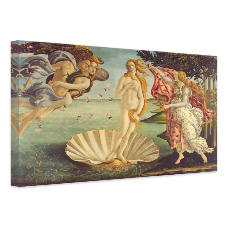 Kunstdruck Sandro Botticelli Geburt der Venus auf Leinwand als ...