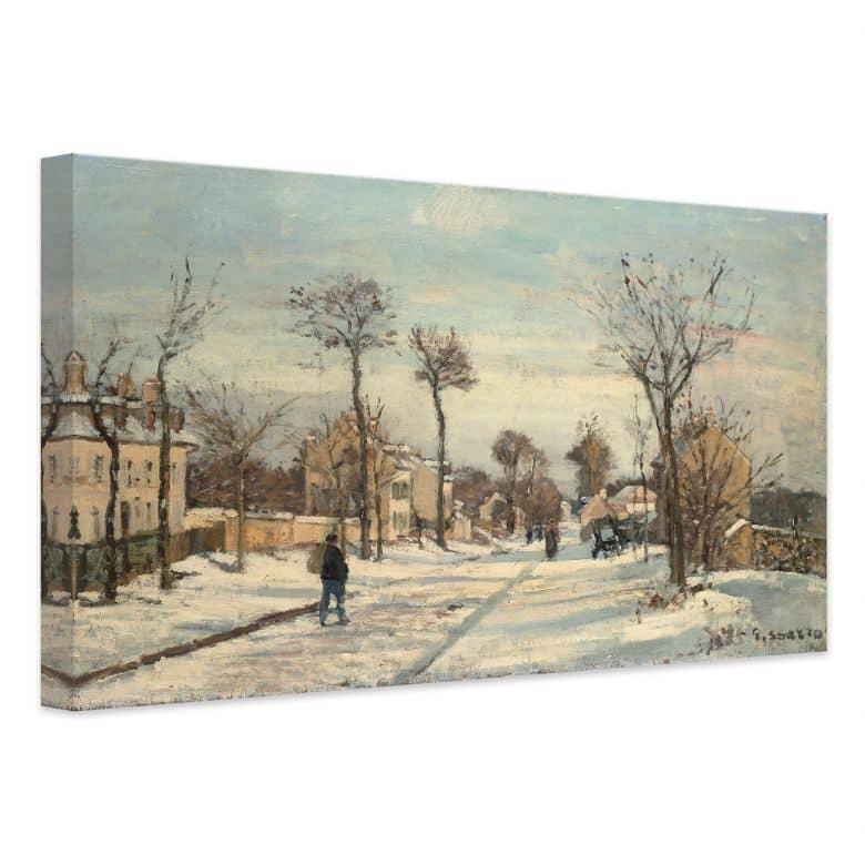 Leinwandbild Pissarro - Straße von Louveciennes im Schnee