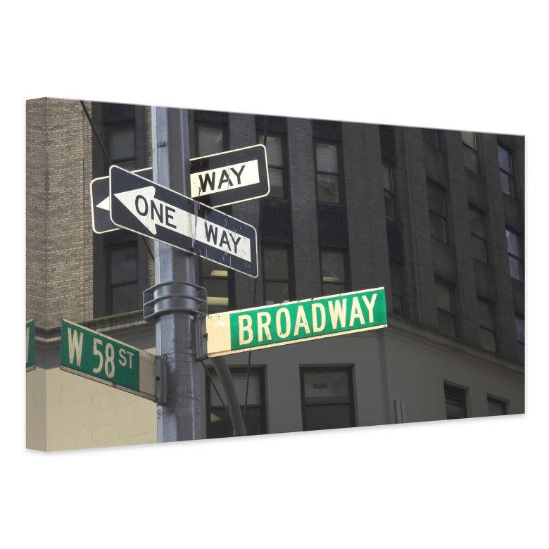 Hochwertiges Leinwandbild Broadway von K&L Wall Art - Holen Sie sich ...