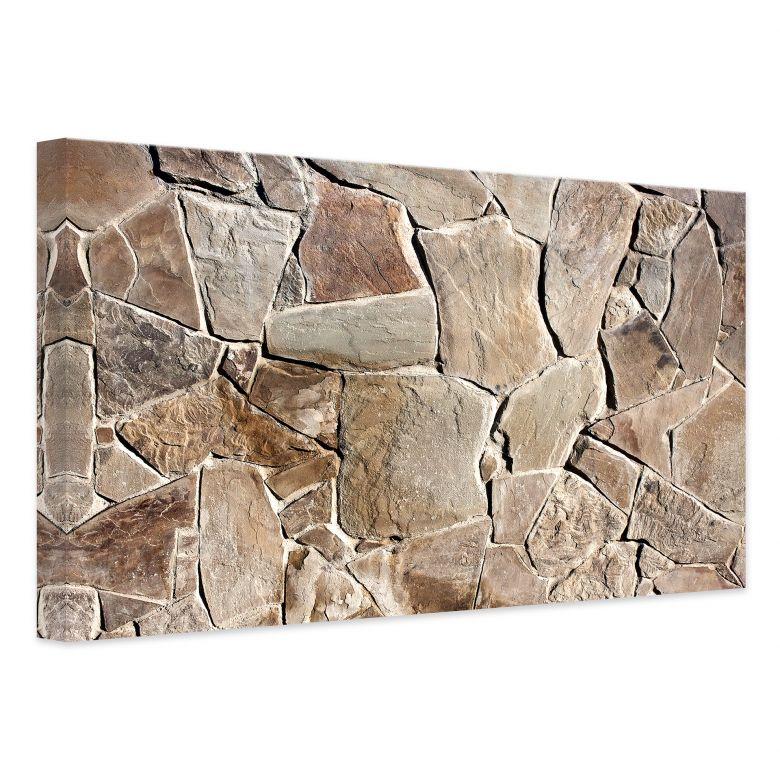 leinwand mediterrane mauer stylische dekoration f r die wand wall. Black Bedroom Furniture Sets. Home Design Ideas