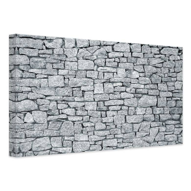 Leinwandbild Granitmauer