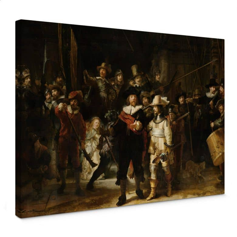 Canvas Print Rembrandt - the Night Watch