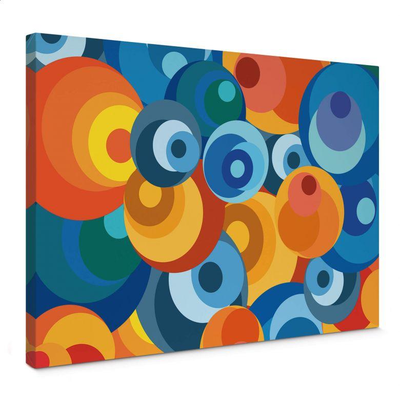 Canvas Retro Cirkels Wall Art Nl
