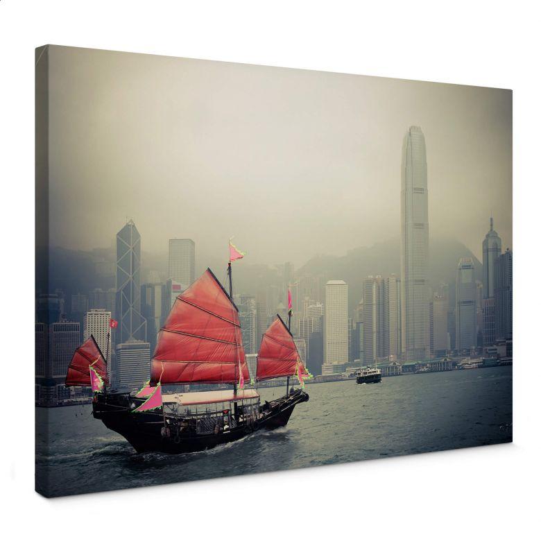 Sailing in Hong kong Canvas print