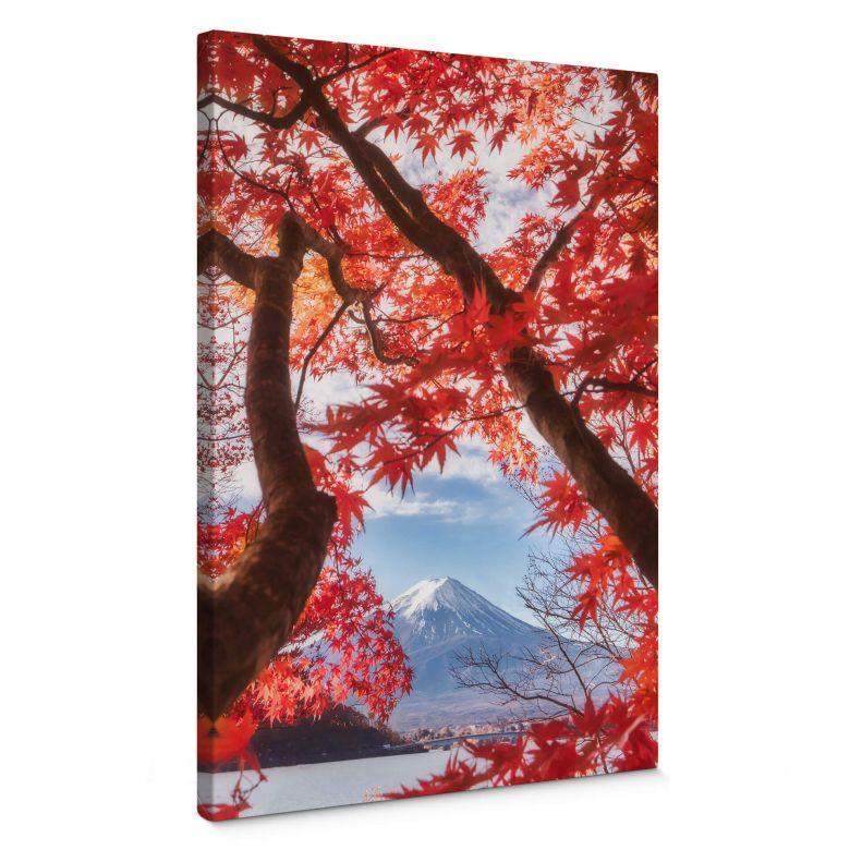 Leinwandbild Samejima - Rote Blätter