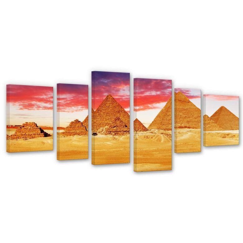 Leinwandbild Die Pyramiden von Gizeh (6-teilig)