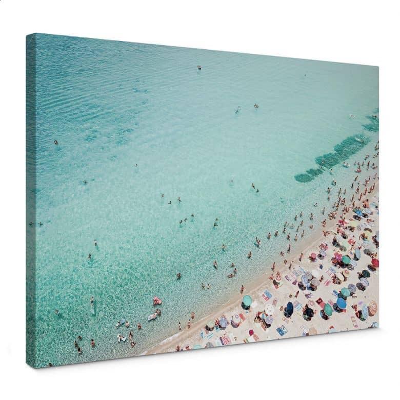Leinwandbild Sisi & Seb - Treiben am Strand